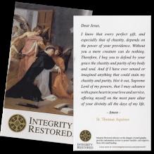 Integrity Restored Prayer Card